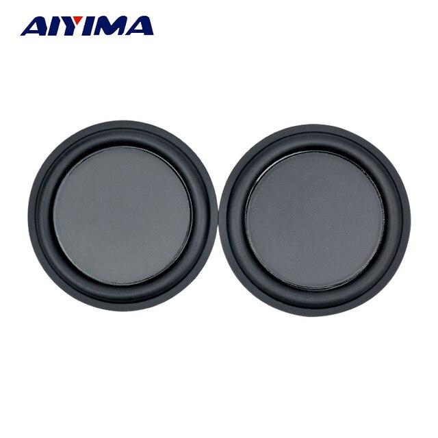 AIYIMA 2 piezas 3 pulgadas de Audio altavoces portátiles 75mm bajo el diafragma bajo pasiva de partes de altavoz Bass película DIY para cine en casa