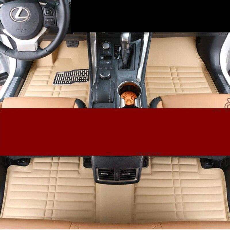 car styling interior car floor mat for lexus nx200 nx200t nx300h 2015 2016 2017 car styling mat interior accessories case for mitsubishi car styling anti slip mat