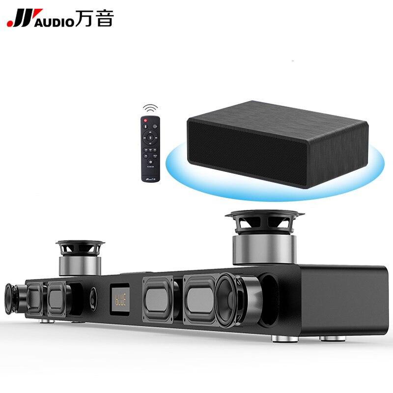 JY barre de son Audio colonne Home cinéma DTS 2.1 barre de son Surround virtuelle pour système de son Surround TV haut-parleur Bluetooth sans fil