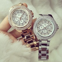 43mm Big Diamond Dial Women Watches Quartz Neutral Watches Decorate Dial Men Watch Fashion Casual Ladies Watch Reloj Hombre 2018