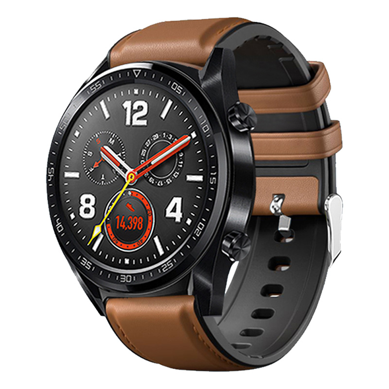 SOONHUA Leather Silicone Wrist Band Strap Watch Straps For Huawei Watch GT/2Pro Watch Accessories