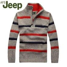 2016 die neue herbst winter jeep/jeep männer dicke gestreiften pullover pullover pullover größe männer beiläufige Dünne M-3XL 48