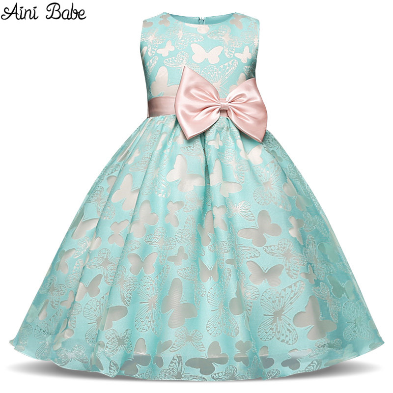 Aini Babe Girls Dress New Summer Costume Fashion Kids Dress Party Princess Dresses For Girls Children Clothing Baby Girl Clothes