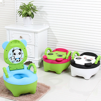 Panda Animal Portable Baby Potty Cute Kids Potty Training Seat Children's Urinals Baby Toilet Bowl Pot Training Pan Toilet Seat