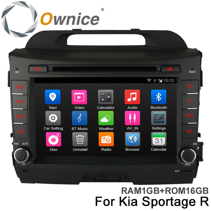 Pure Android 4.4 Quad Core Car DVD Multimedia Player for KIA Sportage r Sportage 2010-2015 with Radio BT GPS WIFI