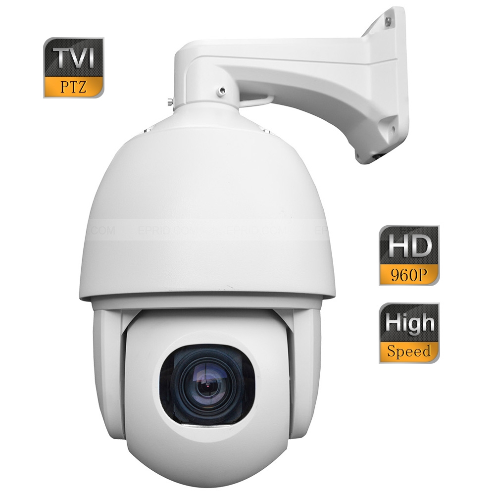 6inch 1.3MP 960P HD TVI High Speed IP66 Dome PTZ Camera 5-90mm 18x Zoom Lens 4 in 1 ir high speed dome camera ahd tvi cvi cvbs 1080p output ir night vision 150m ptz dome camera with wiper