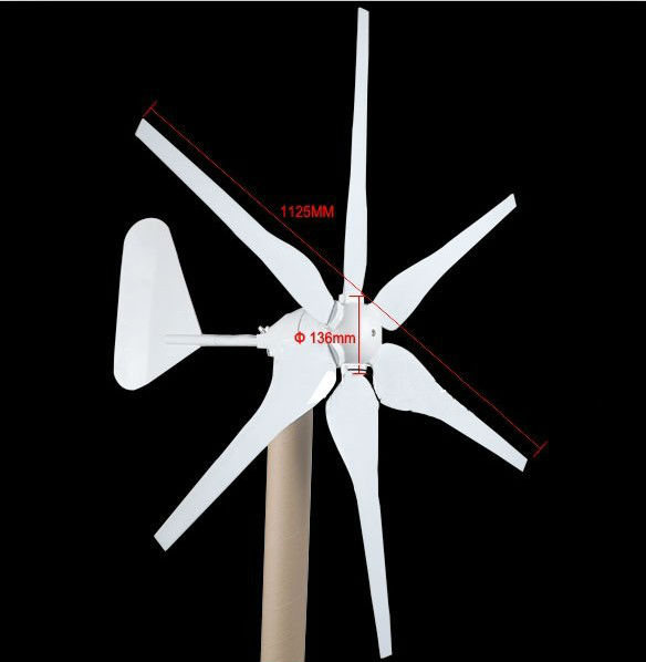 где купить MAYLAR@ 300W DC12V/24V High Efficiency Wind Generator, 6 Blades CE Certificate дешево