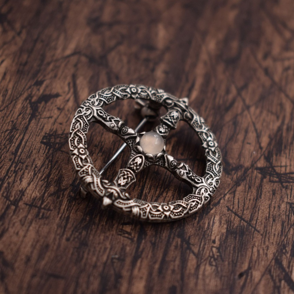 Vegvisir Brooch Viking Compass Amulet Nordic Talisman Viking Jewelry 20PCS-in Key Chains from Jewelry & Accessories    1