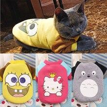 Cartoon Cat Costume Cute Cozy Pet Clothes for Cats  Katten Kedi Hoodie Mascotas Gato Sweatshirt Cat Sweater Pets Clothing Outfit