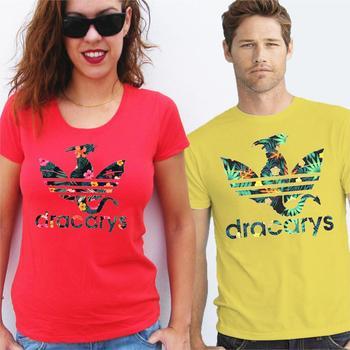 bd9ad57b348dc Dracarys Marka gömlek Oyun Thrones Marka Unisex Yetişkinler T-Shirt  harajuku Vintage T gömlek Camiseta hombre Tişört Erkek Kadın gömlek
