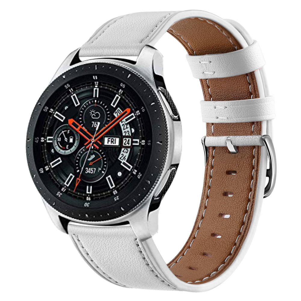 22mm Leather Watch Band For Samsung Galaxy Watch 46mm Strap For Gear S3 Classic Huawei Watch  Genuine Leather Band Strap 93002
