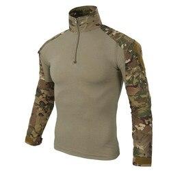 Exército dos eua tático militar uniforme airsoft camuflagem combate-camisas comprovadas assalto rápido camisa de manga longa batalha greve
