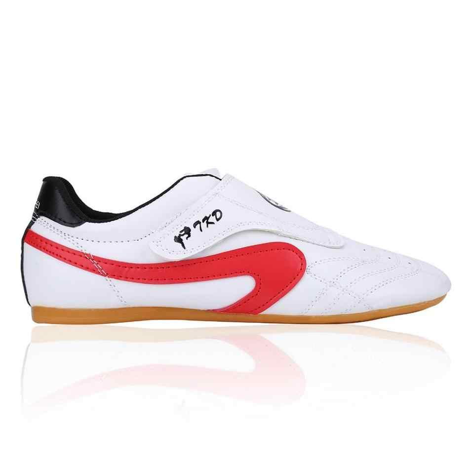 أحذية تايكوندو رياضية للجنسين أحذية تايتشي الكونغ فو وو شو لمصارعة فنون الدفاع عن النفس للأطفال البالغين مقاس 28-45