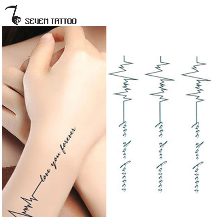 Sex Products Heartbeat Tattoo Small Temporary Tatto Sticker