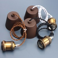 E27 E26 Copper Retro Vintage Edison Incandescent Light Bulb Lamp Base Pendant Lamp Holder Socket Ceiling