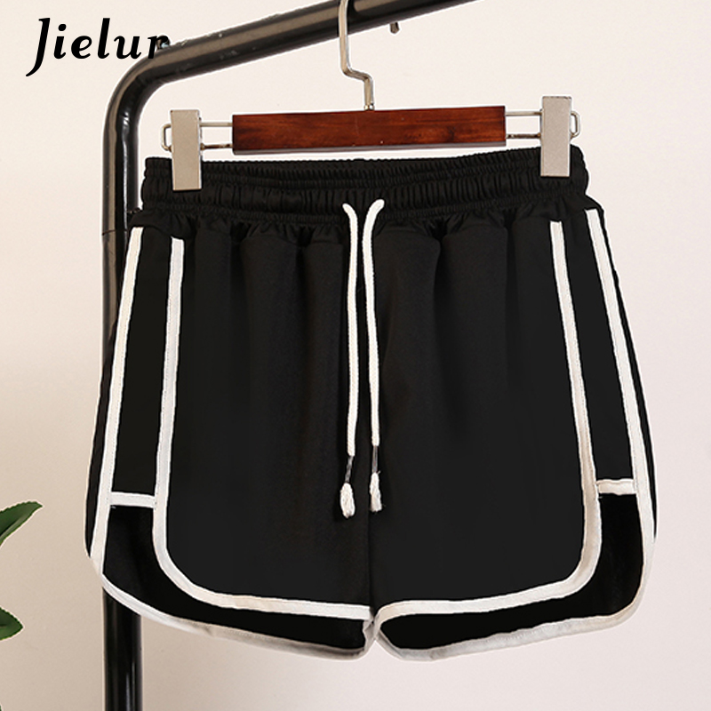 Jielur Women Shorts Kpop Elastic-Waist Comfortable Female Fashion Solid Loose Leisure
