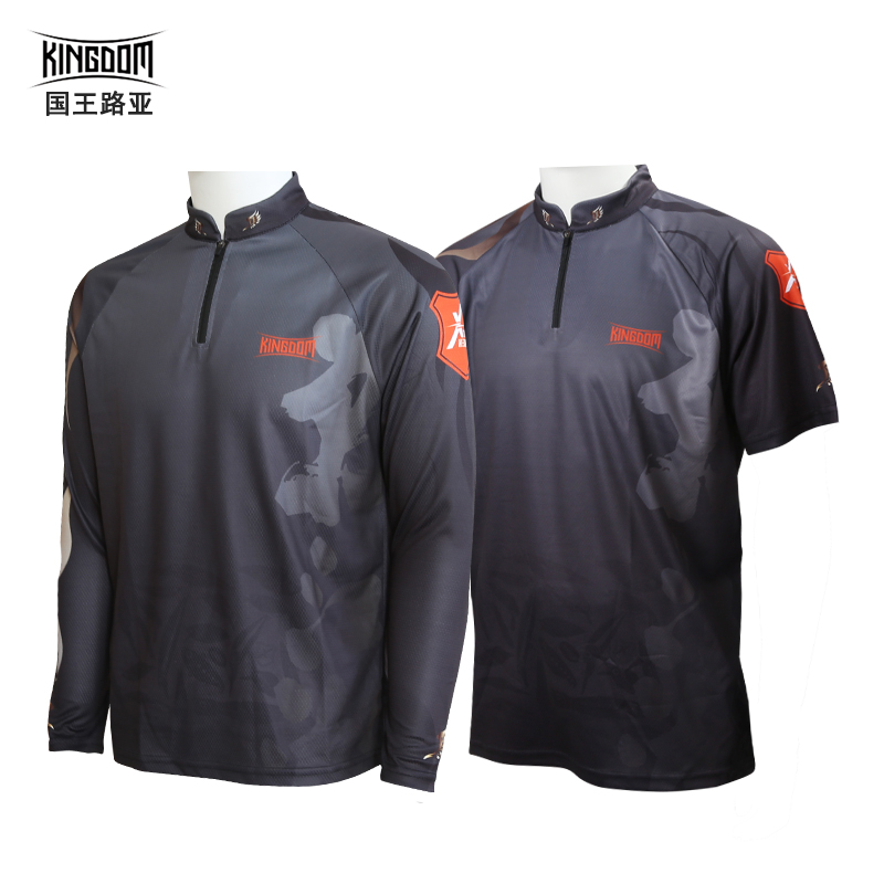 Kingdom Fishing Jerseys Anti-UV Fishing Shirt Long Sleeve Men Fishing Clothing Outdoor Breathable  Quick-Drying
