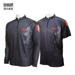 Kingdom fishing jerseys anti-uv camisa de pesca manga longa masculino roupas de pesca ao ar livre respirável de secagem rápida