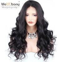 WoWEbony 360 Lace Frontal Wigs Brazilian Virgin Human Hair Lace Wigs Best Hair Buy Super Wavy Pre plucked Hairline [360SW05]