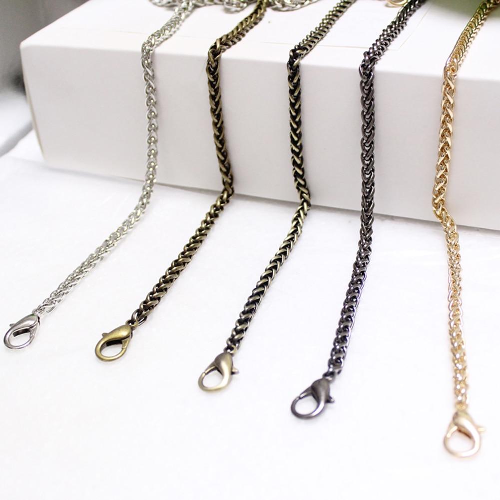 120cm Chain Accessories For Bag Belt Straps Metal Bag Parts Accessories Bags Chain Belts Hardware For Handbag Handle Accessories