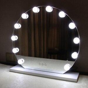 Image 5 - Specchio per il trucco Luce Lampadine Kit 10 USB LED Luci Della Stringa Regolabile Luminosità Cosmetici Light Tocca Controllo Vanity Specchi Lampada