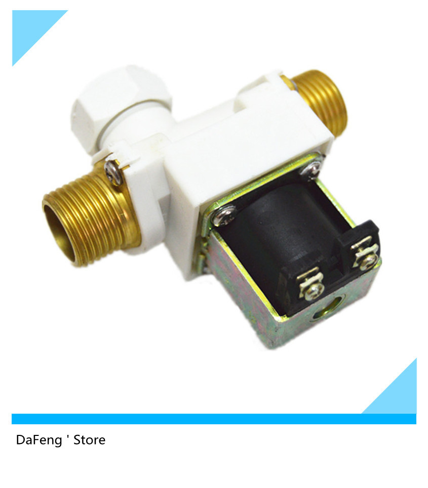 Free shipping new electric solenoid valve Solenoid valve 1/2 12Vdc plastic water valve,