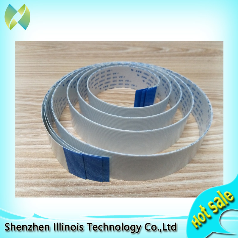 2PCS date cable 14pins pitch 1 25mm length 3200mm inkjet machine data cable 14 core long data cable 14P flat line 3200mm A in Printer Parts from Computer Office