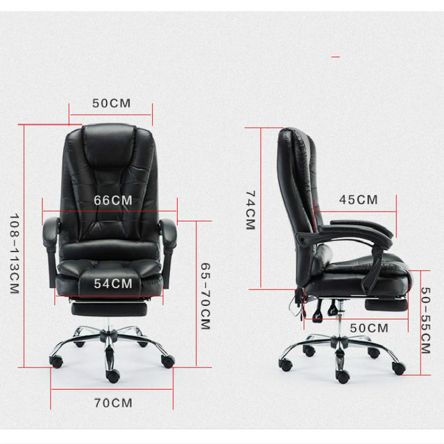 Genuine Leather Computer Chair Household Leather Office Chair PU Swivel Lift Gaming Chair 6