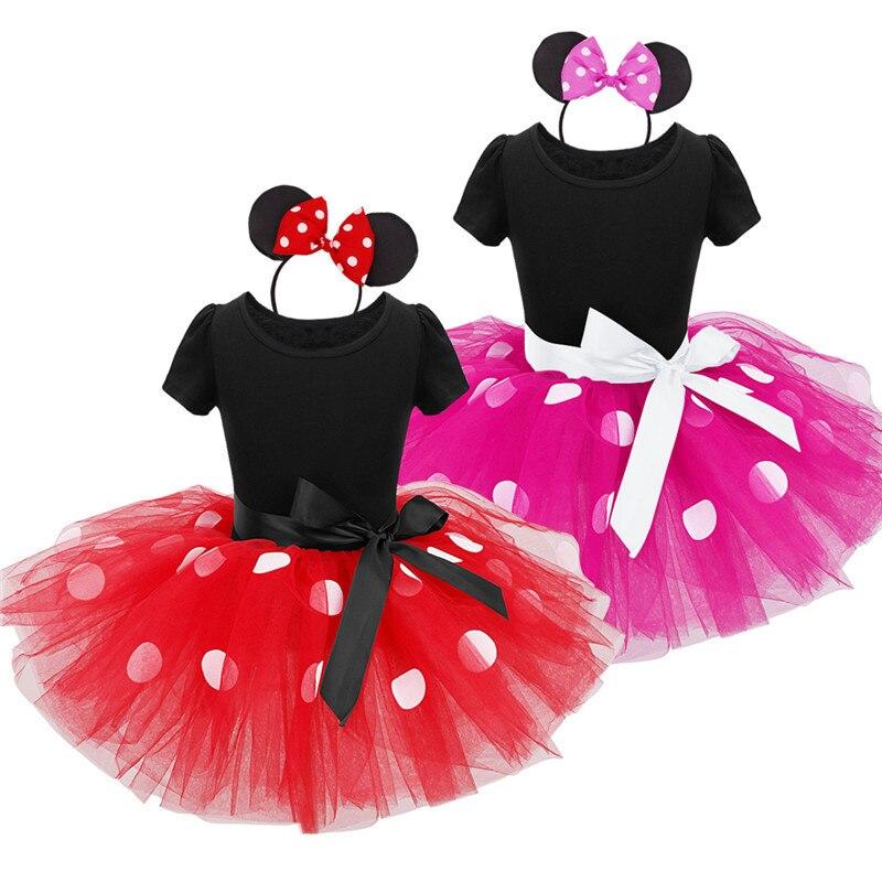 2017 Été Nouveau enfants robe minnie souris princesse partie costume infantile vêtements Polka dot bébé vêtements d'anniversaire filles tutu dresse