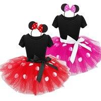 2017 Verão vestido Novo crianças minnie mouse princesa traje do partido roupa infantil Polka dot roupas de bebê meninas do aniversário tutu dresse