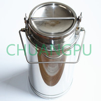 Stainless Steel Milk Transportation Can with FDA Certificate, 10L SS304 Milk Bucket