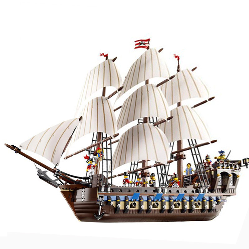 Lepin 22001 Pirate Ship warships Model Building Kits Block Briks Toys Gift 1717pcs Compatible 10210 free shipping lepin 2791pcs 16002 pirate ship metal beard s sea cow model building kits blocks bricks toys compatible with 70810