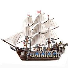 Briks Lepin 22001 Barco Pirata Modelo Kits de Construcción de buques de guerra Bloque Juguetes de Regalo 1717 unids Compatible 10210
