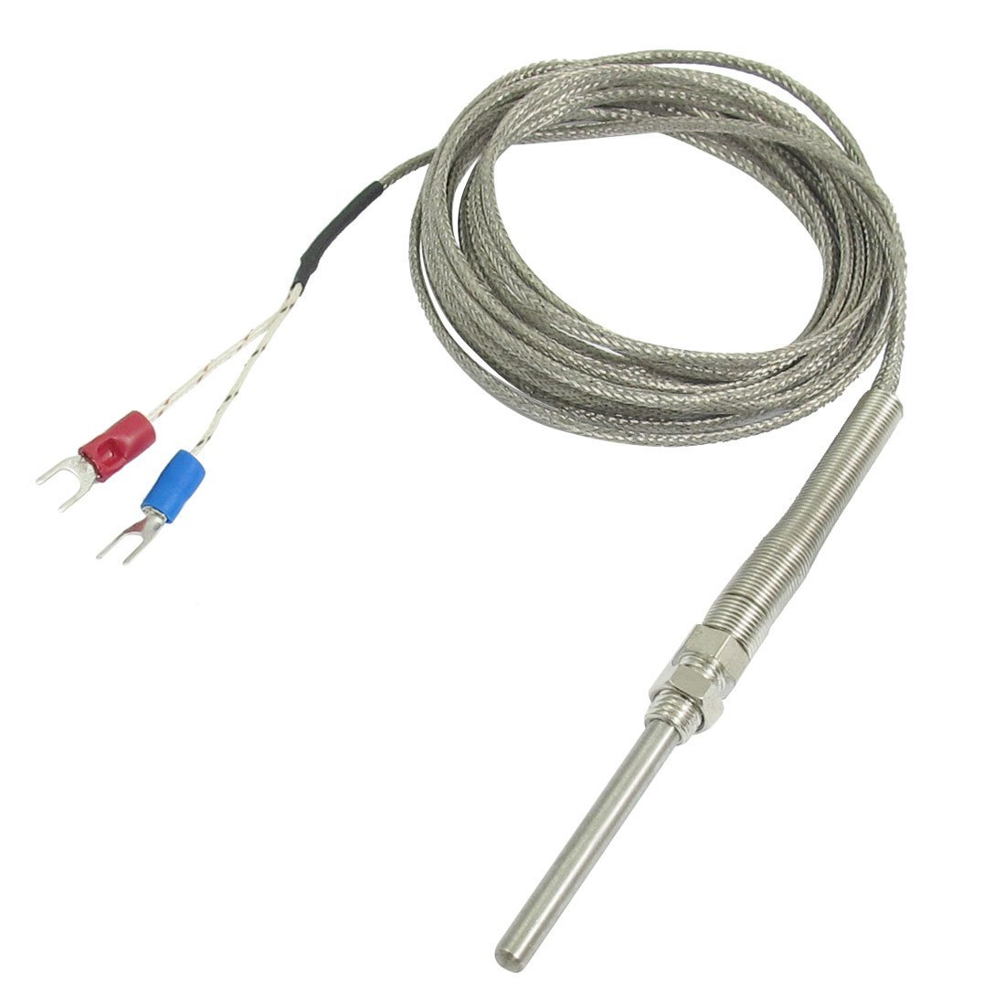 K Type 50x5mm 800C Probe Thermocouple Temperature Sensor Cable 9 8ft 3 Meters