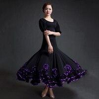 New Arrival Modern Dance Dress For Lady Purple Burgundy Green Blue Flamenco Showing Fashion Women Female Ballroom Garments Q5018