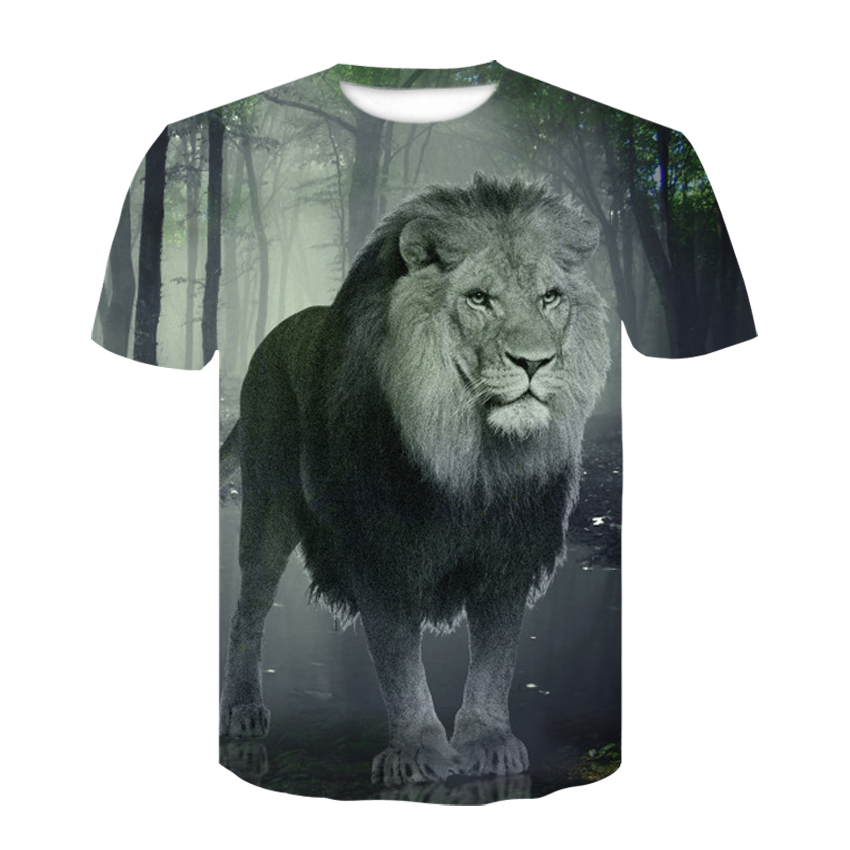 2019 Devin Du 3d Printed T-shirt Animal Lion Tt T-shirt Top Fashion Short Sleeve T-shirt Size M-4 Xl