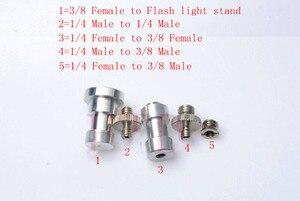Image 4 - 5In1 1/4 ila 3/8 erkek dişi adaptör vida kamera tripodu topu kafa Monopod flaş ışığı standı montaj aksesuarları [hiçbir izleme]