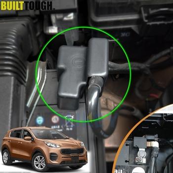 Dla KIA Sportage QL MK4 2016 2017 2018 2019 silnik samochodowy bateria negatywne złącza zaciskowe pokrywa zacisku naklejki akcesoria tanie i dobre opinie XUKEY CN (pochodzenie) Schowek podłokietnik High grade ABS Plastic