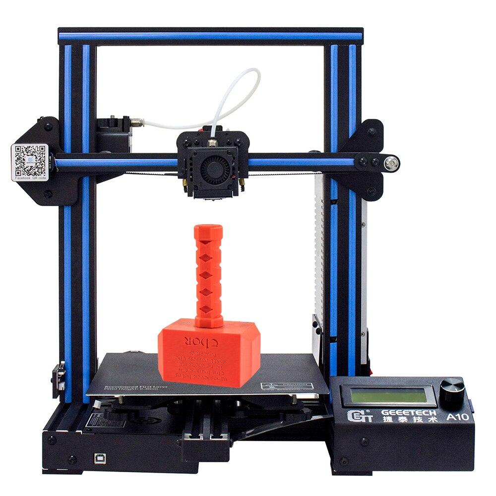 Geeetech A10 imprimante 3D de qualité efficace et rapide 220*220*260 haute PFrinting Accur bonne plate-forme d'adhérence LCD2004 affichage