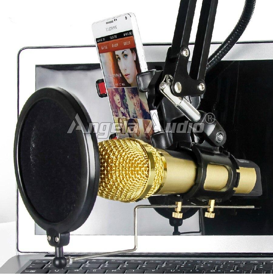 שולחן העבודה חצובה מתקפלת סטנד מיקרופון המסך רוח פופ פילטר מסכת השלכת הקלטה מיקרופון בעל סטודיו מחשב קריוקי סקייפ