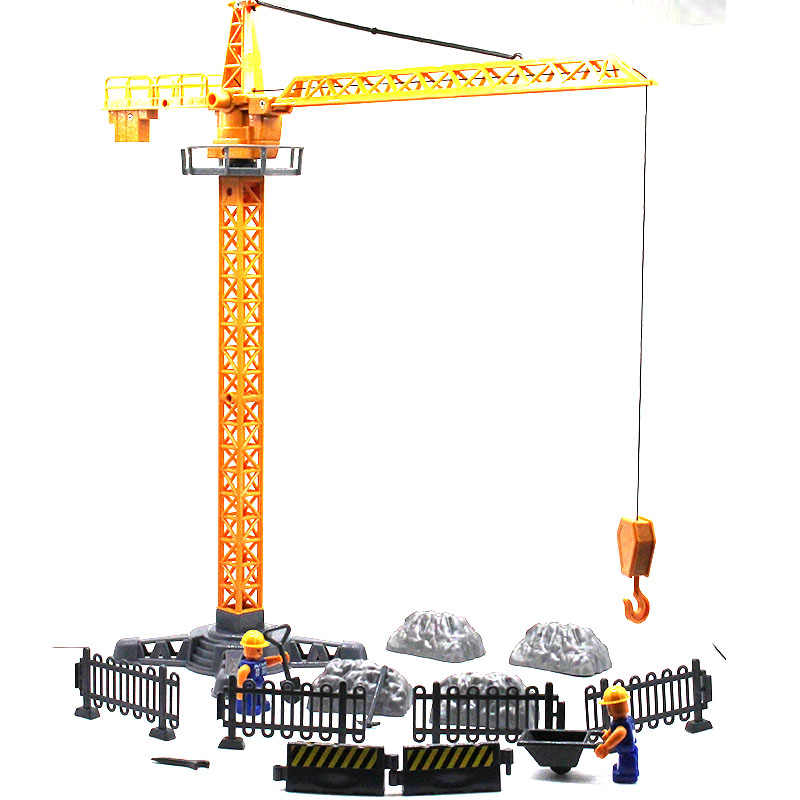 crane Engineering series A variety of accessories Develop brains to combine the models you want kids toys Gift for children