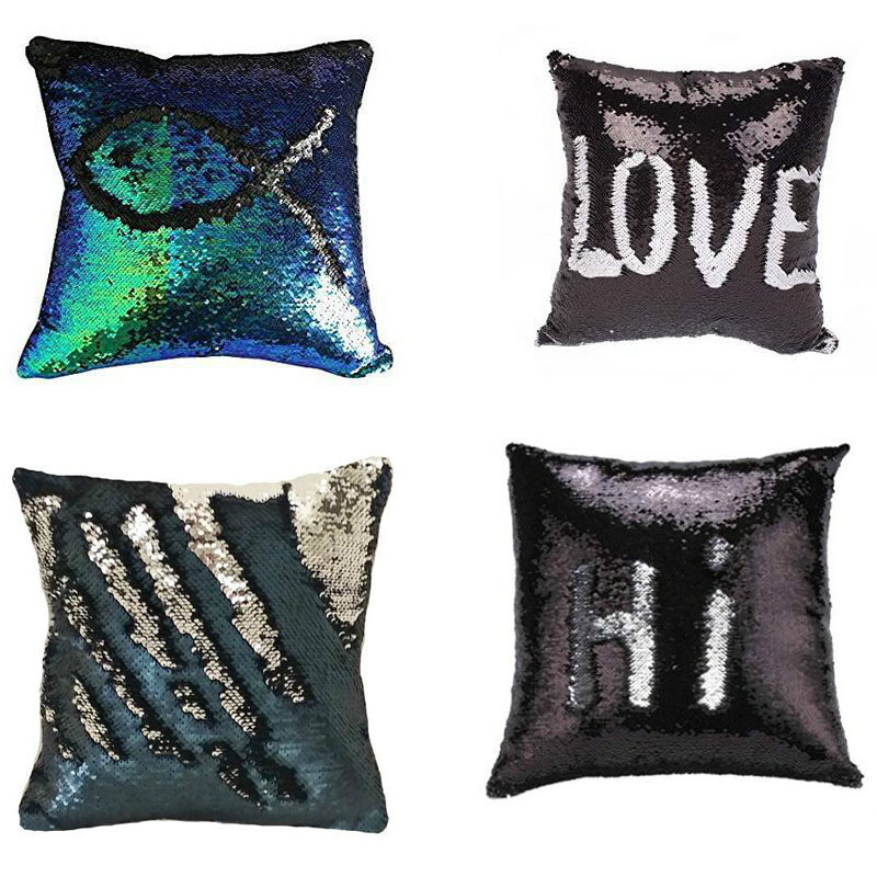 BeddingOutlet Mermaid Sequin Cushion Cover Magical შეცვლა - სახლის ტექსტილი - ფოტო 1