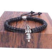Tibetan buddhist om mani padme hum bracelet handmade Vajra&Ghanta Charm bracelet For Man Women meditation Healing Dropshipping
