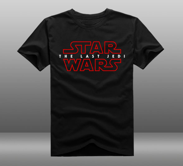 new movie star wars 8 t shirt star wars episode viii the last jedi men t shirt cotton short. Black Bedroom Furniture Sets. Home Design Ideas