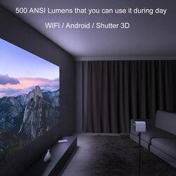 Xiaomi Mijia przenośny mini projektor zamontować projekcji projektor 1080 p 500 lumenów ANSI MIUI TV HDR10 2.4G/5 WiFi dla kina domowego 6