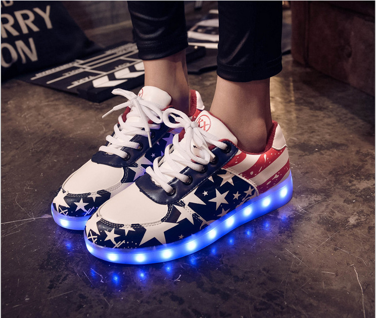 Size 30-46 Glowing Sneakers for kids and adults USB Charging Light Up Shoes for boys girls men women Led Causal Shoes size 25 46 fiber optic backlight led shoes for girls boys men women new usb charging luminous sneakers glowing light up shoes