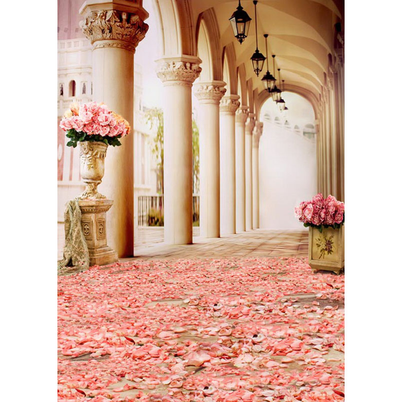 10x16ft Wedding Room Seamless Vinyl Photography Backdrops Computer Printed s770 Pink Flower Background For Photo Studio 3 5m vinyl custom photography backdrops prop nature theme studio background j 066