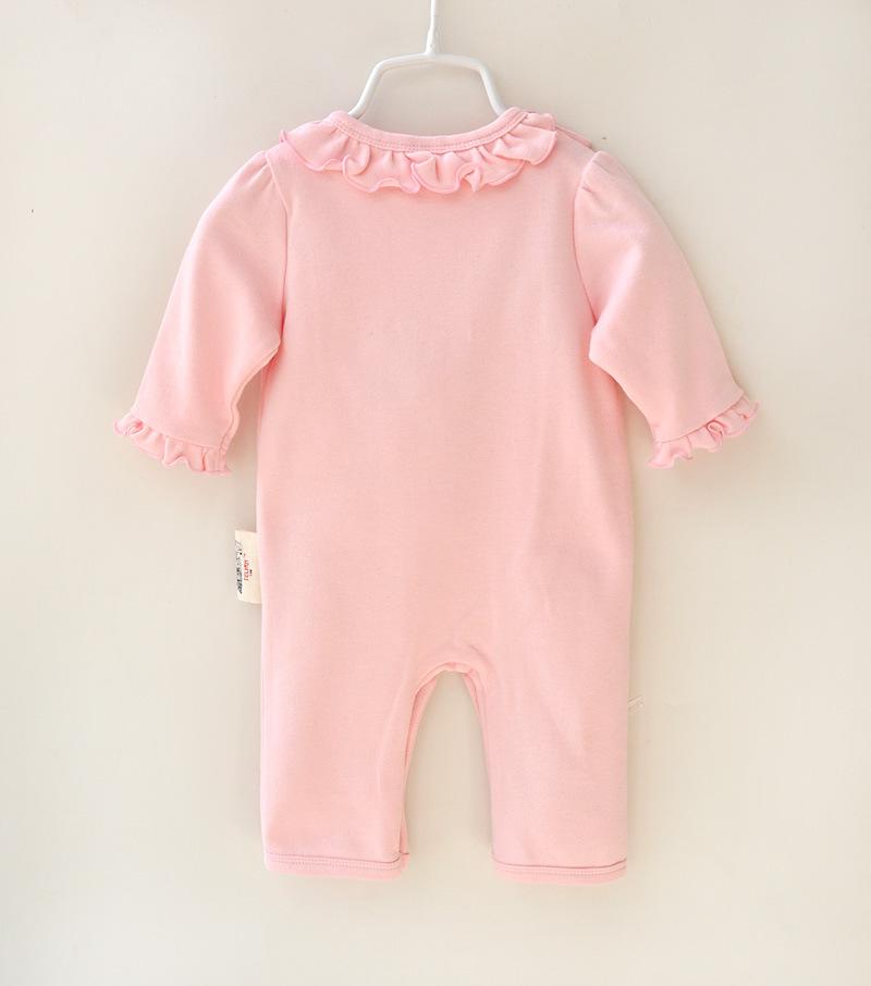 HTB1IK.0JFXXXXaTXXXXq6xXFXXXg - 2 Pcs Newborn Girl Organic Cotton Hello Kitty Romper Set Baby Cute Pink Jumpsuit with Hat New Born Ruffled Collar Bowknot Outfit