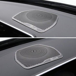 Image 5 - For Mercedes Benz W205 GLC C Class C180 C200 Car styling Audio Speaker Dashboard Loudspeaker Cover Stickers Trim Accessories LHD
