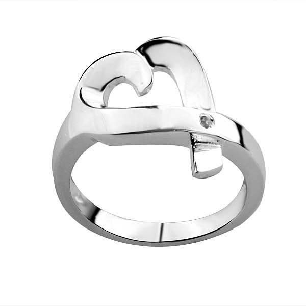 hot wholesale silver 925 fashion diamond  size 8 Q fashion ring R031 free shipping